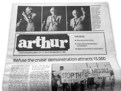 The Arthur, which i edited in 1982, my journalistic training ground