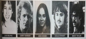 The Squamish 5, arrested in 1983 for conspiracy to rob a Brinks truck. Taylor and Hannah later pled guilty to the Litton bombing.