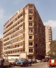 The Wadi el Nil building in Cairo, from which Herbert Norman jumped to his death