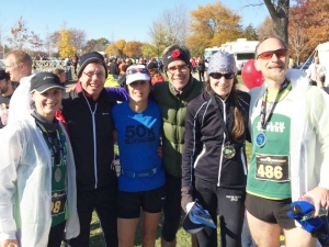 Some of my Victors teammates, at the Hamilton Marathon