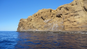 The back wall of Molokini is a lot bigger up close!