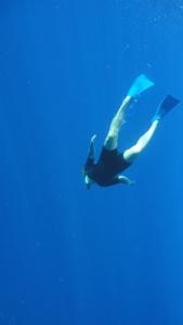 My sister Gyata snorkelling off Molokini