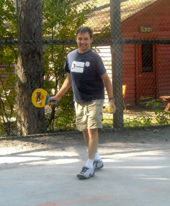 Randy on the paddle tennis court at Red Pine Camp
