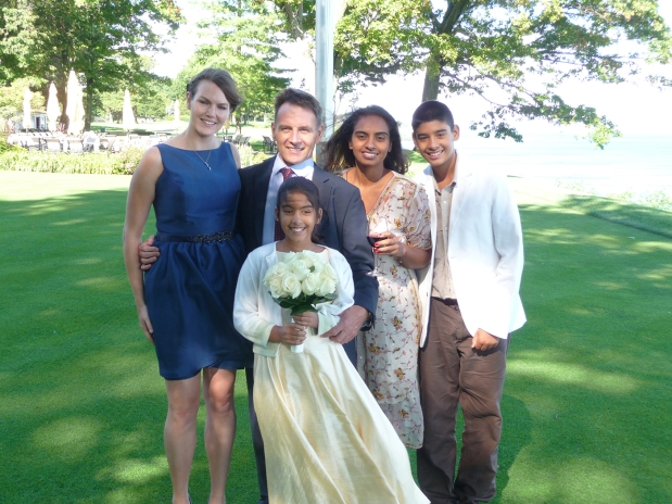 Nikki, Randy, Asha, Ryan and Rahel, summer 2012 – just as he first received his cancer diagnosis