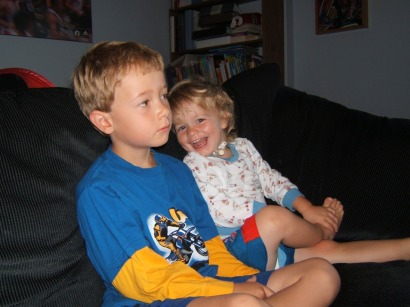 Payton and Kyle, September 2005